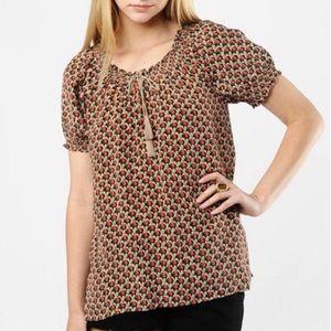 NWOT Joie silk elephant print blouse top S